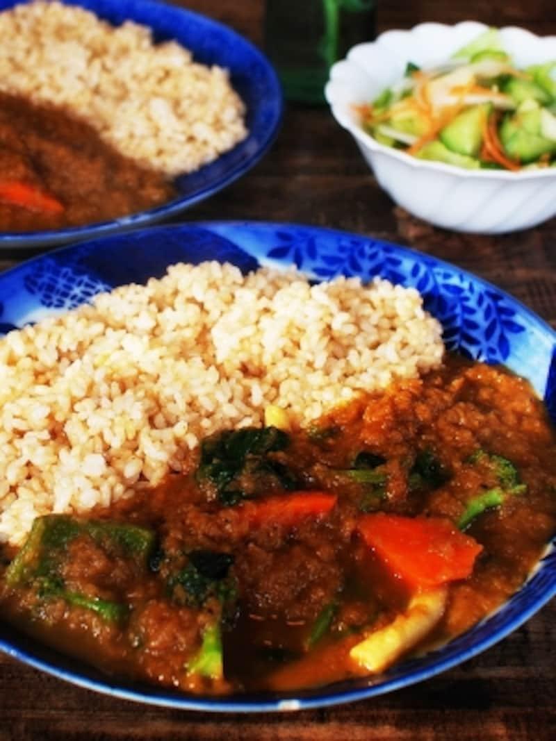 季節ごとにさまざまな野菜が加わるカレー