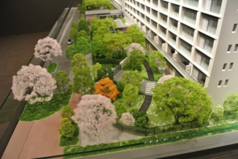 ブランズシティ品川勝島の完成予想模型