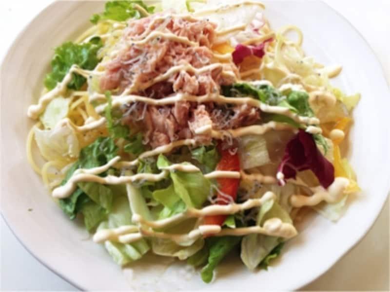 簡単サラダパスタ