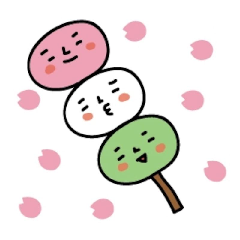 お花見 イラスト 桜 カラー かわいい
