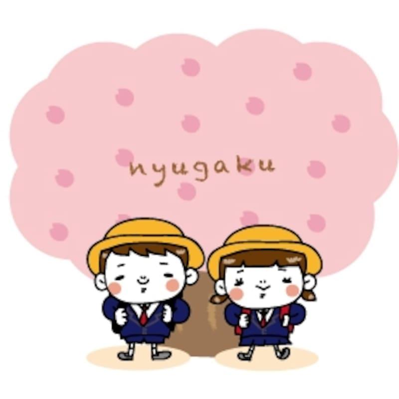 入学式 イラスト 桜 カラー かわいい