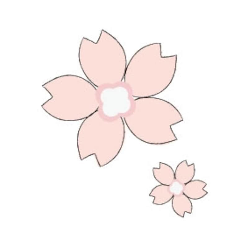 卒業 イラスト 桜の花 カラー かわいい