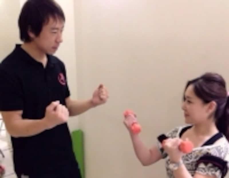 森田さんトレーニング