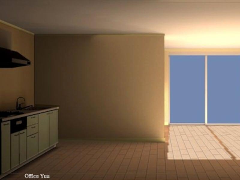 光も風も通らないマンションのキッチン