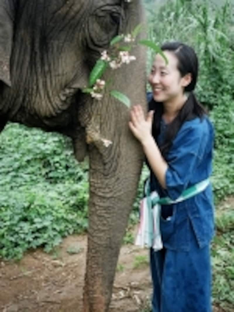 半日間、象使いの訓練を受けたあと、直接象にまたいで乗るという経験も、忘れられない経験