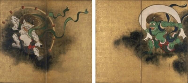 《重文風神雷神図?風》尾形光琳筆江戸時代・18世紀東京国立博物館蔵本館2F「日本美術の流れ」7室にて公開