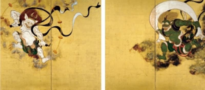 《国宝風神雷神図?風》俵屋宗達筆江戸時代・17世紀京都・建仁寺蔵展示期間:全期間