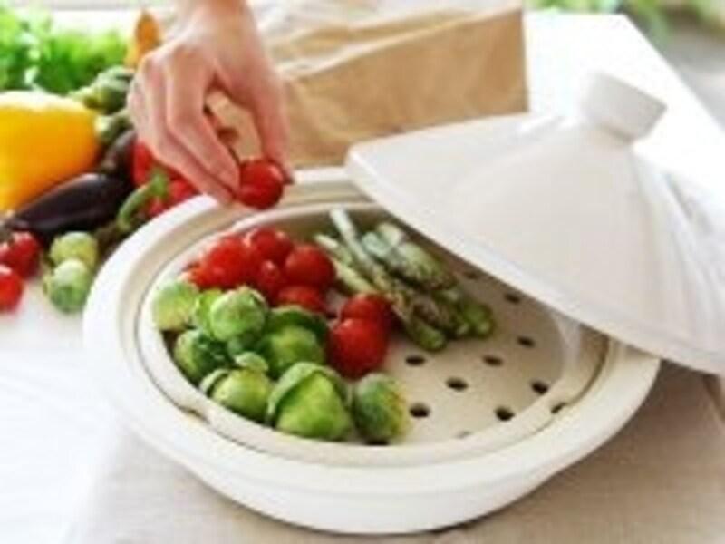 簡単ヘルシー夏の蒸し鍋
