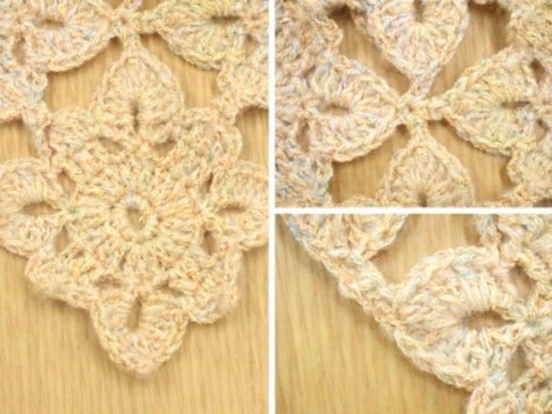 編み目のアップ