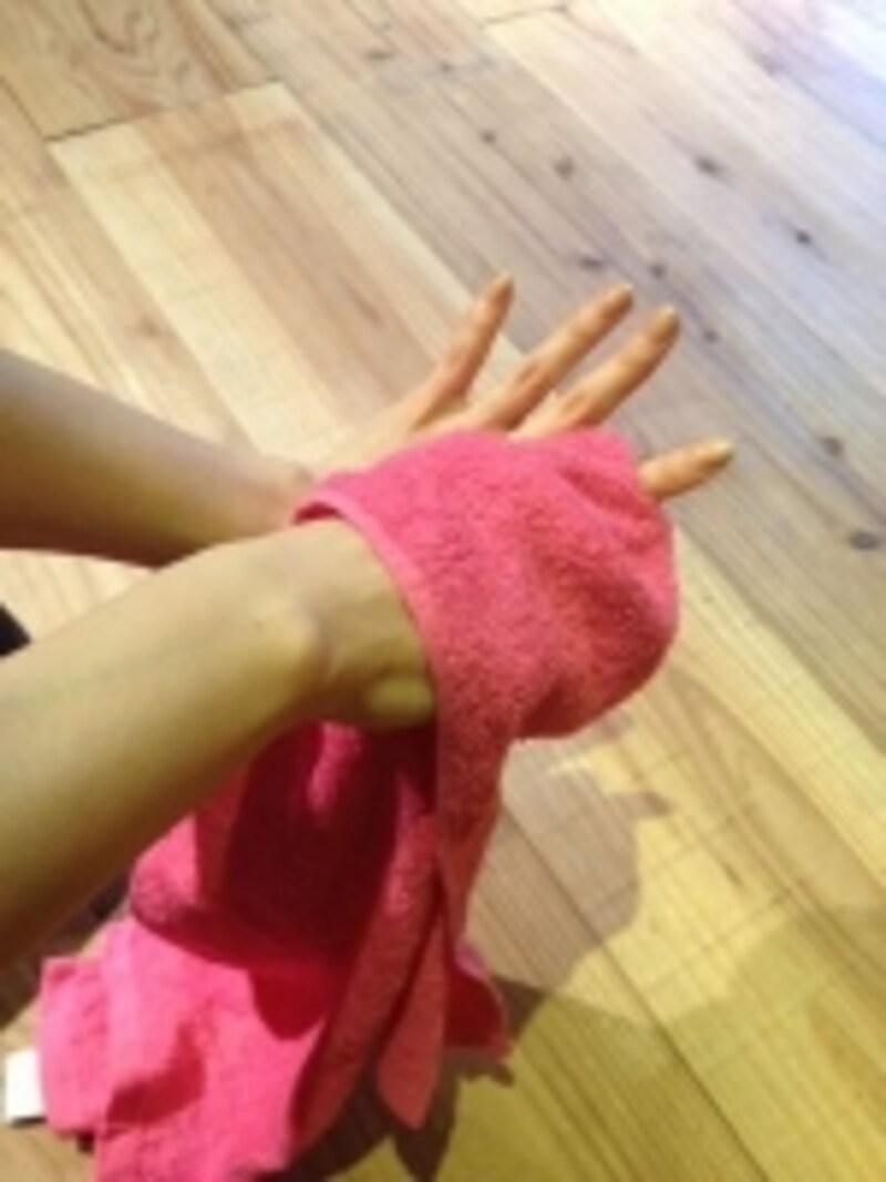 タオルで効率よく血流をアップ