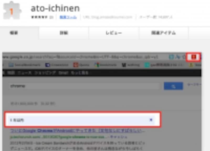 Chrome拡張ato-ichinen