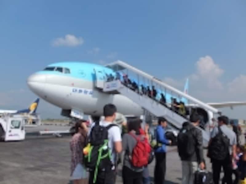 大韓航空に搭乗