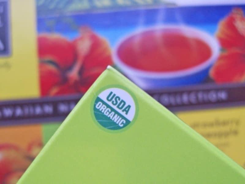 アメリカ農務省認定のオーガニック商品「USDAORGANIC」のマーク