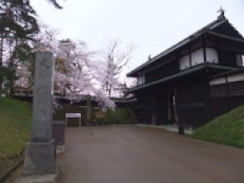 弘前城の桜(4)/追手門