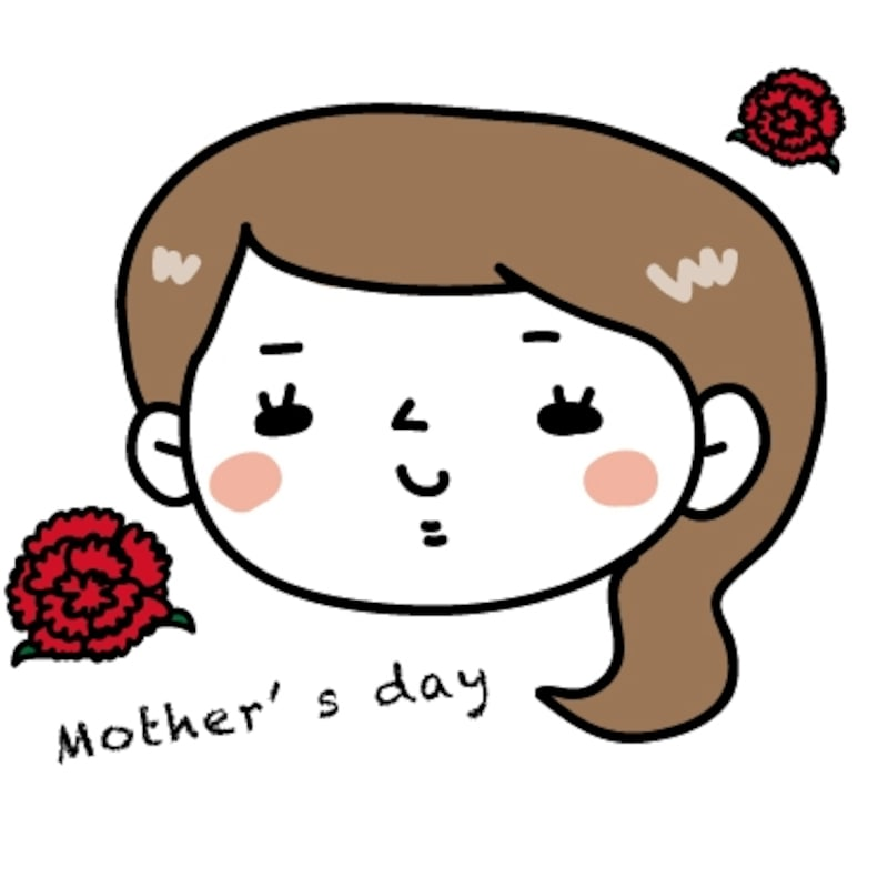 お母さん 母の日 イラスト カラー かわいい
