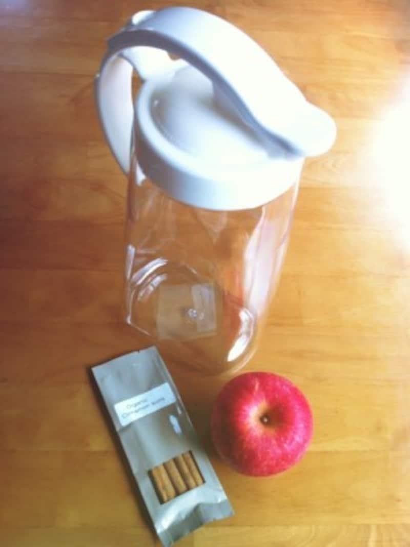 写真にはりんごが1つしかないですが2個必要です