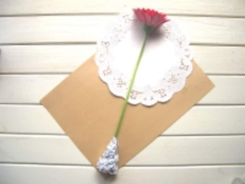 お花を斜めに置く