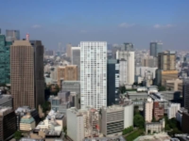 「虎ノ門タワーズレジデンス」(愛宕から撮影)