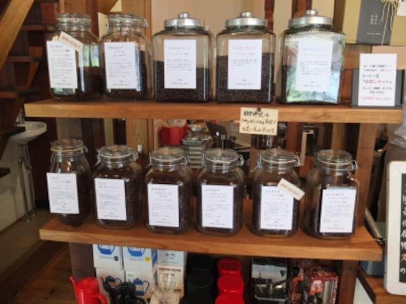 販売用のコーヒー豆