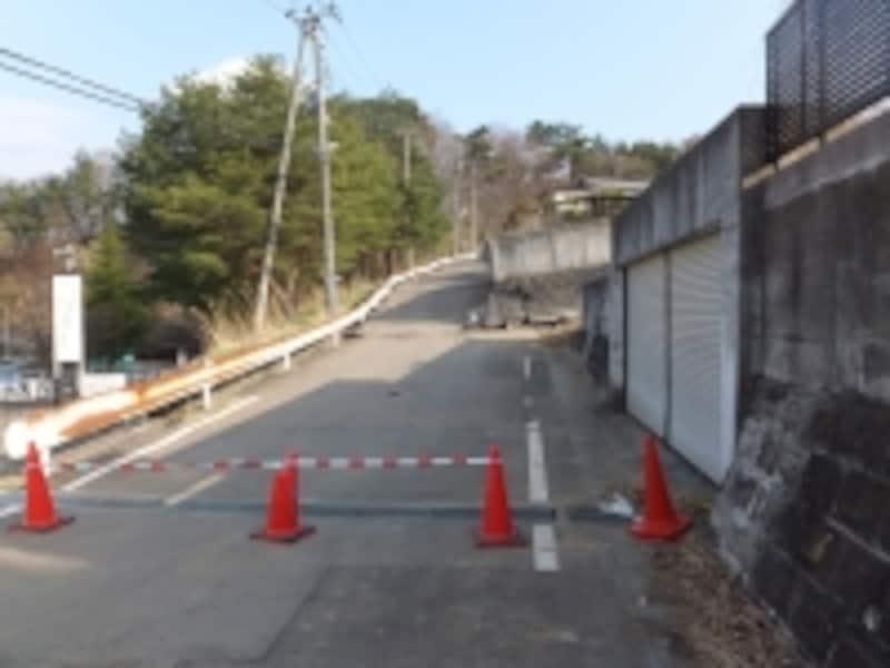 東日本大震災で大きな被害を受けた造成地
