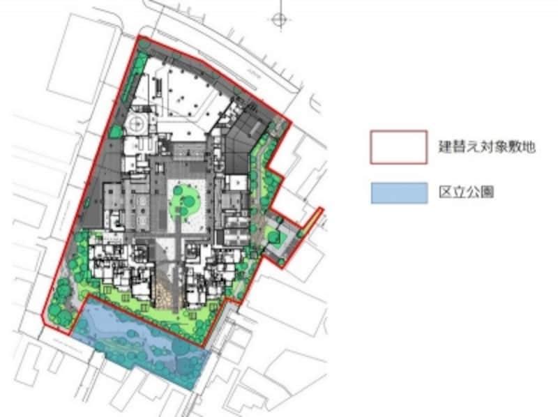 建て替え後の敷地配置図