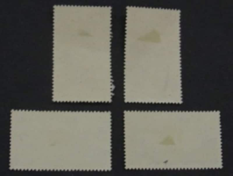 ヒンジ跡付きの記念切手
