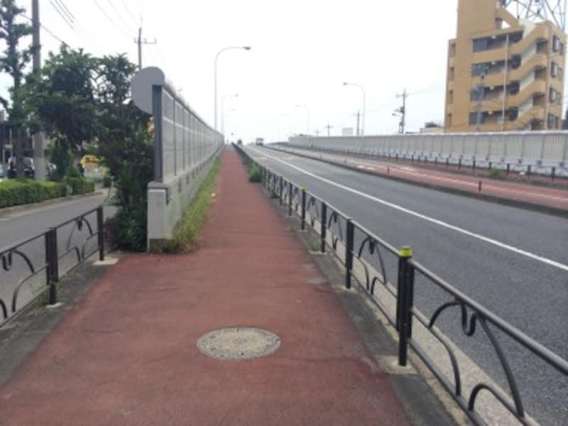 橋で坂道トレーニング
