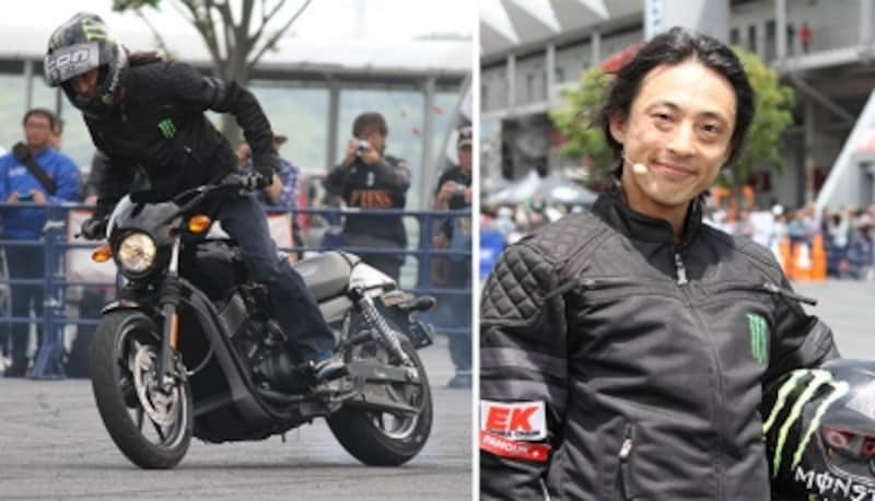 実際に試乗されたエクストリームバイクのプロライダー木下真輔さん