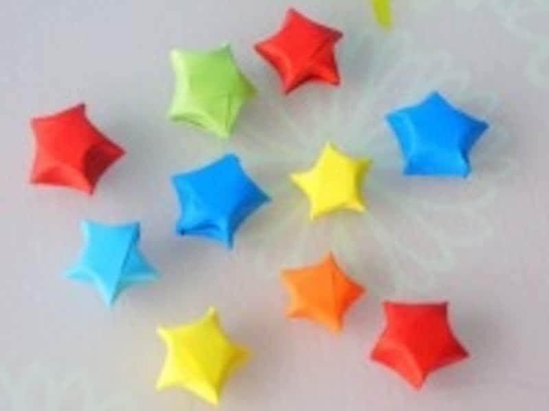 カラフルなラッキースター・立体星