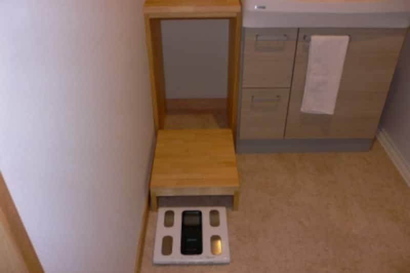 洗面脱衣室造作カウンター2