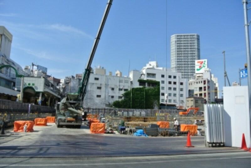 「柏駅東口D街区第一種市街地再開発事業」のタワー棟の建設地