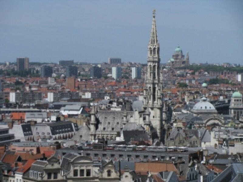 高台から望むブリュッセル旧市街