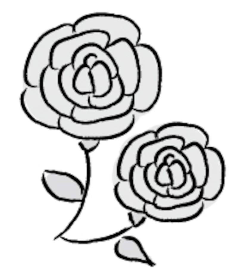 バラ 父の日 イラスト 白黒 かわいい