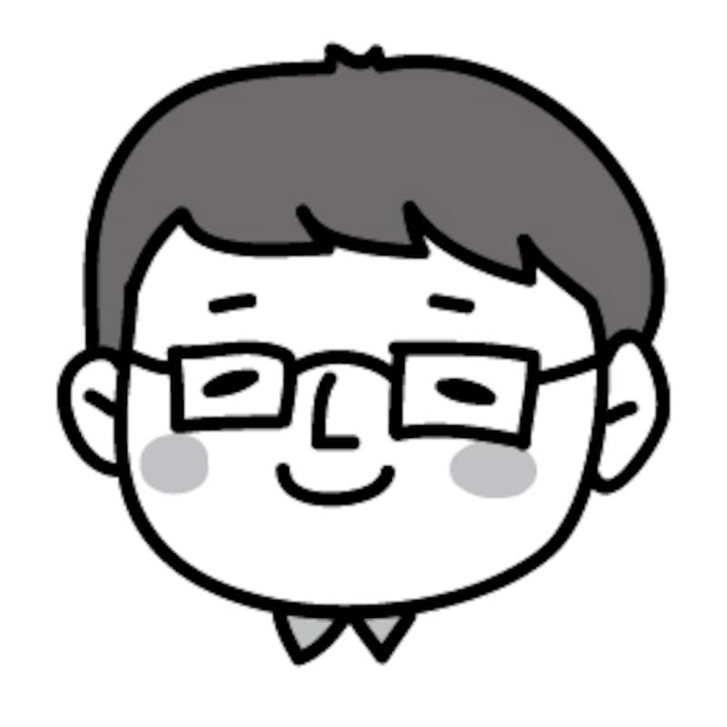 メガネのお父さん 父の日 イラスト 白黒 かわいい