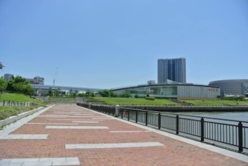 豊洲公園近くの海辺