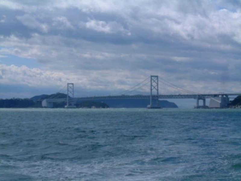 大鳴門橋(1)/うずしお観潮船「日本丸」より
