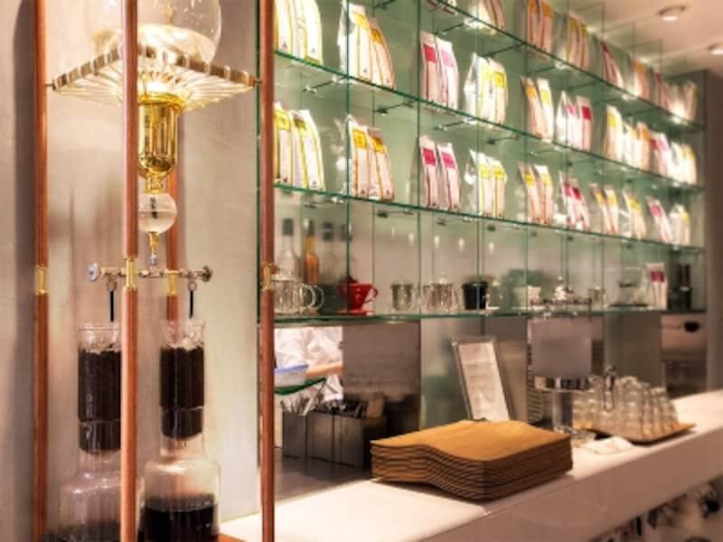 青山店でもウォータードリップのアイスコーヒーが楽しめます。