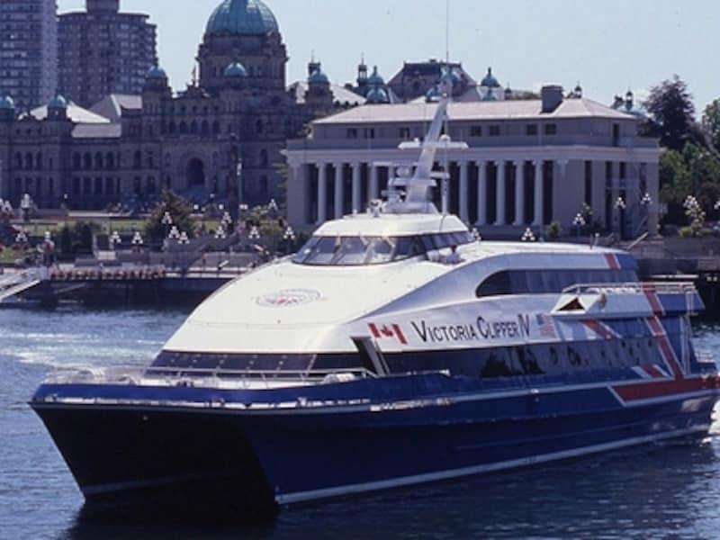 ユニオンジャックがデザインされた船はインパクト十分!undefined(C)TourismViotoria