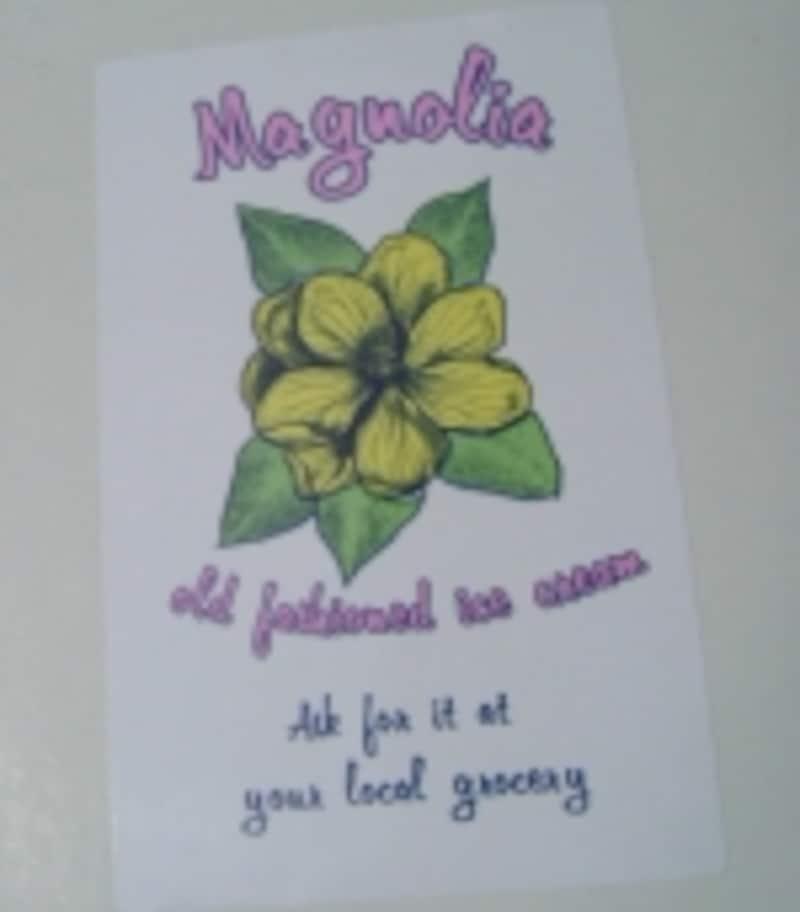 ちなみに店名の「Magnolia」はモクレンという意味。2003年当時のショップカードに、このMagnoliaの花が描かれていました。