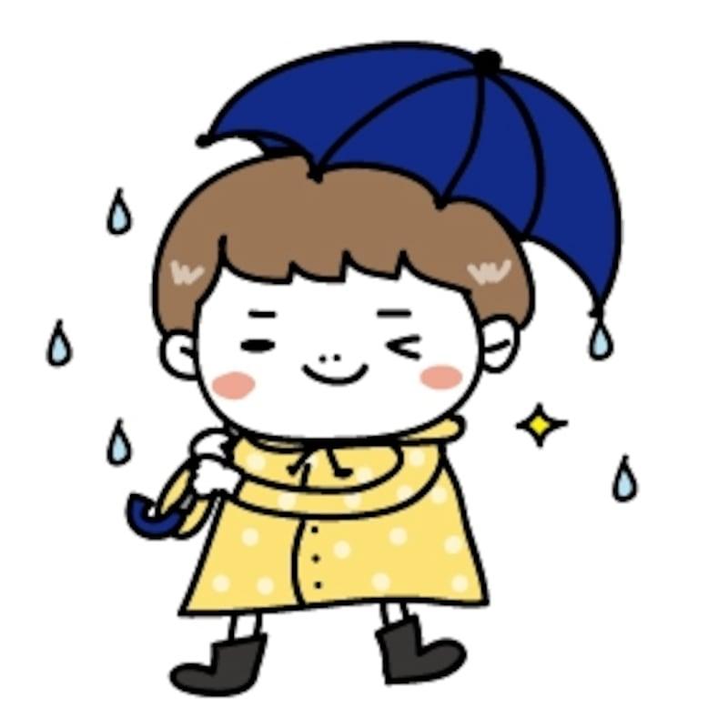 男の子 梅雨 イラスト カラー かわいい