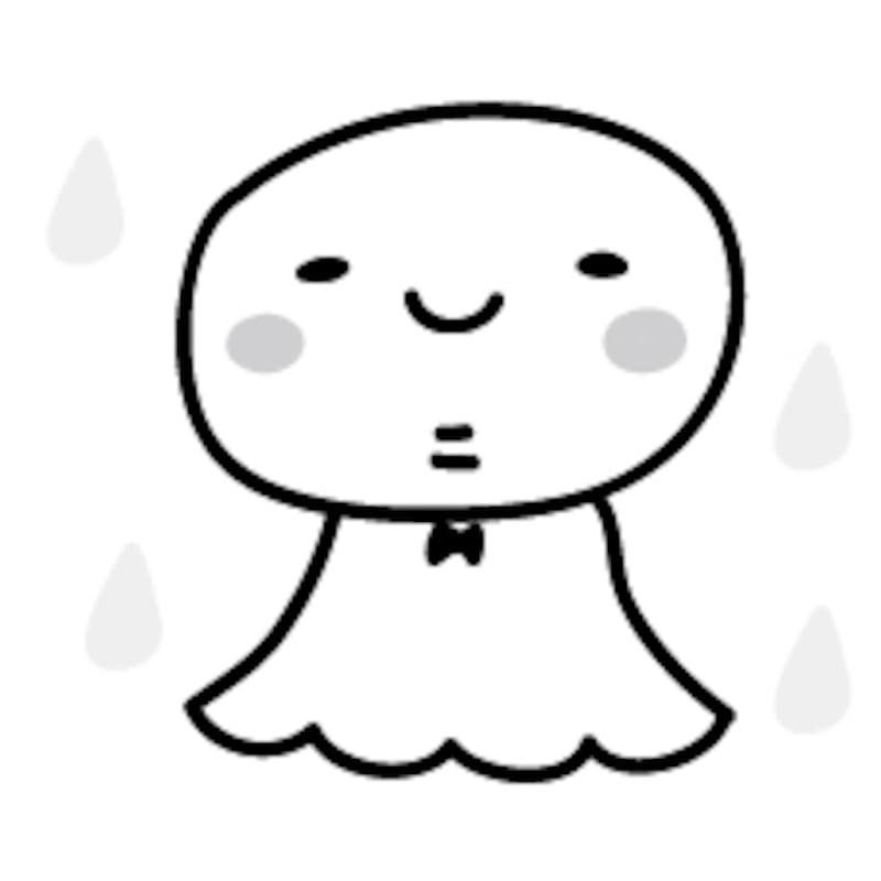 てるてる坊主 梅雨 イラスト 白黒 かわいい