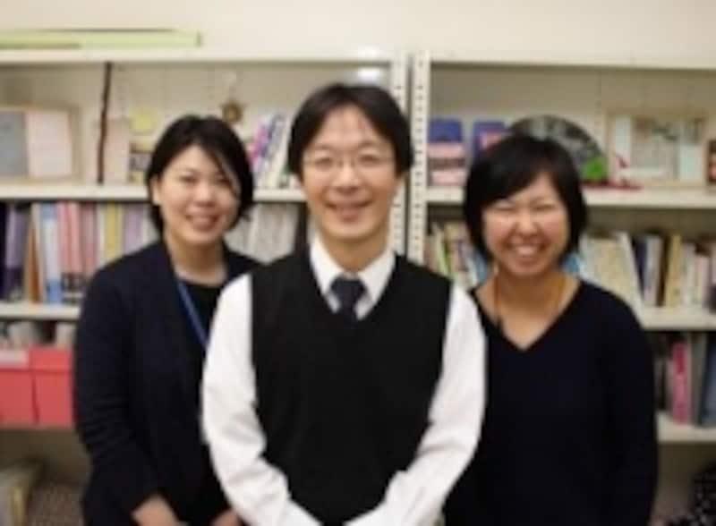 左から稻留直子助教、兒玉慎平講師、森隆子助教