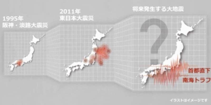 将来も大地震が発生する可能性は高いと予測されています