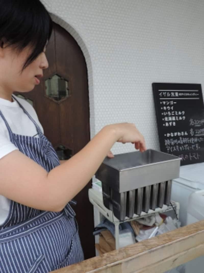 「イグル氷菓」のアイスキャンディー用の型