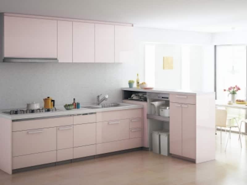ダイニングから見えにくい場所とするなど、キッチンプランに合わせてスペースを確保したい。[Lクラスキッチン]undefinedパナソニックエコソリューションズundefinedhttp://sumai.panasonic.jp/