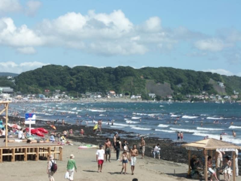 夏の由比ヶ浜海水浴場
