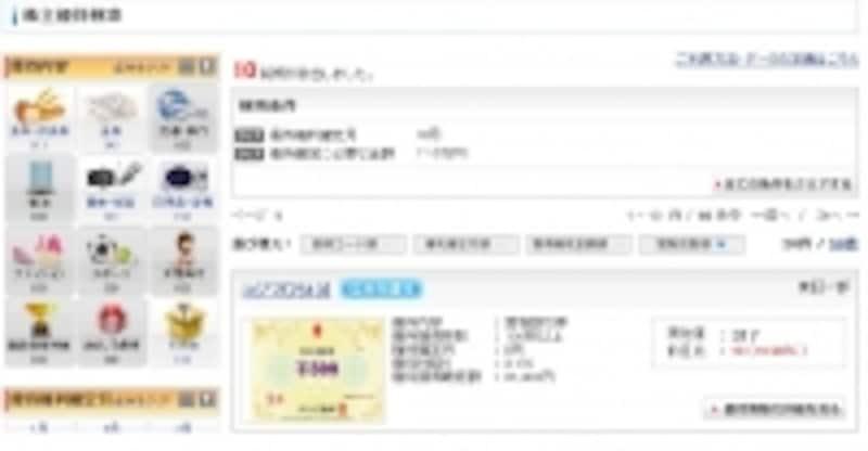 SBI証券undefined株主優待検索