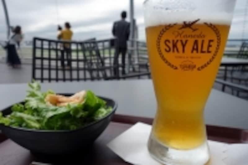 飛行機と空模様を眺めつつスカイエール
