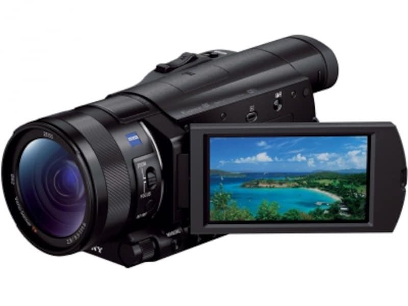 ソニーの4K対応ビデオカメラ「FDR-AX100」