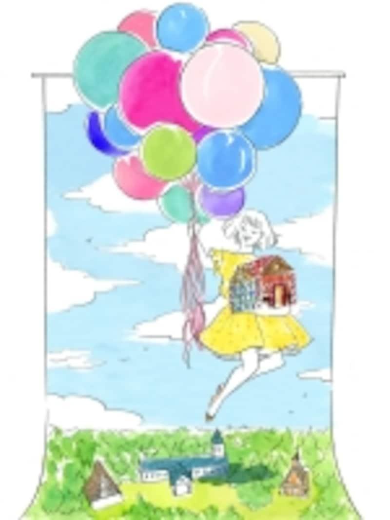 併設された空飛ぶお菓子の家では記念撮影も。